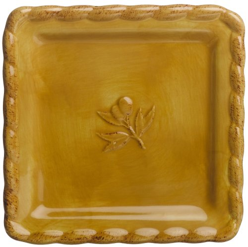 Buy Signature Housewares Napa Entertaining 6-Inch Square Plates, Gold, Set of 6