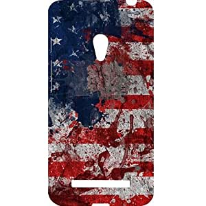 Casotec Painting American Design Hard Back Case Cover for Asus Zenfone 5