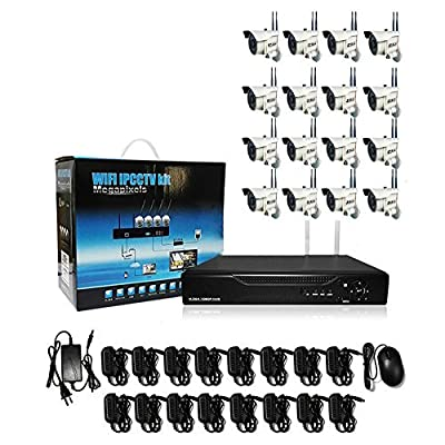16ch Network WIFI NVR Kit 16 Wireless Outdoor 960P HD IP Bullet Security Camera system IP Surveillance Security Wireless WIFI NVR Kit System Network Video Recorder 16 Channel