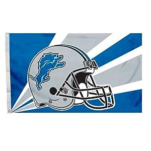 NFL Detroit Lions 3-by-5 Foot Helmet Flag by Fremont Die