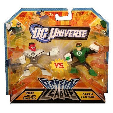 DC Universe Action League White Lantern Sinestro vs Green Lantern 2pk Mini Figures by DC Comics (Dc Comics Sinestro Action Figure compare prices)