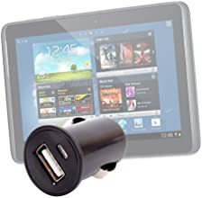 DURAGADGET Black Compact In Car Charger For Toshiba Excite Pro 101 Asus MemoPad HD7 Fineslate W70 Le
