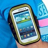 yayago Sportarmband Oberarmtasche Oberarm Tasche / Armband Sport Tasche für Ihr Samsung Galaxy S3 i9300 und S3 LTE i9305 zum Joggen / Fitness in -Neon Grün-