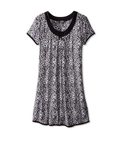 René Rofé Sleepwear Women's Simply Me Shirt  [White Leopard]