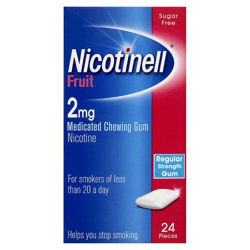 Nicotinell Chewing Gum 2mg Fruit - 24 Pieces