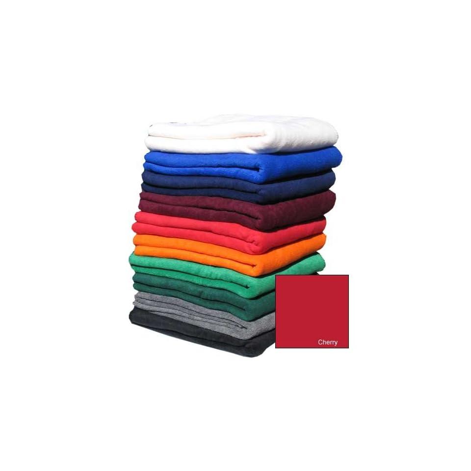 Nordic Fleece Throw Blanket (Cherry Red)