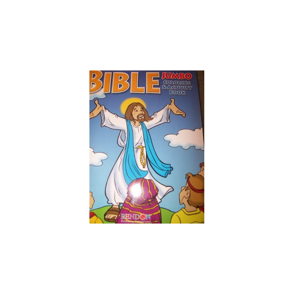 Jesus Speaks Bible JUMBO Coloring Amp Activity Book