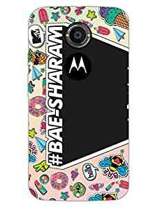 MTV GONE CASE - Bae-sharam - Typography - Hard Back Case Cover for Moto X2 - Superior Matte Finish - HD Printed Cases and Covers