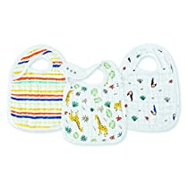 aden + anais Classic Muslin Snap Bibs 3 Pack - Into The Jungle