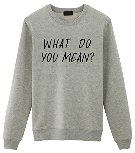 Fellow Friends - Justin Bieber What Do You Mean? Unisex Sweater (Small, Grey)