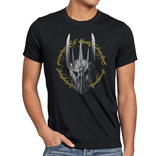style3 Anello scuro T-shirt da uomo terra di nuova zelanda mezzo, Dimensione:L