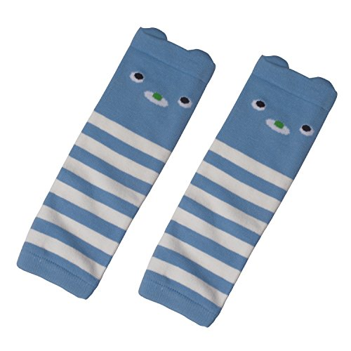 Luckystaryuan Baby Kneepads Infant Girl Boy Cotton Leg Protector (light blue)