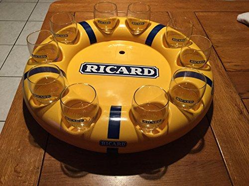 lot-10-verres-ricard-ballon-soleil-avec-bouee-ricard-parfait-etat