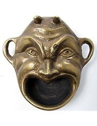 Brass Devil Head Bottle Opener Ashtray and Snuff Dispenser by TreasureGurus