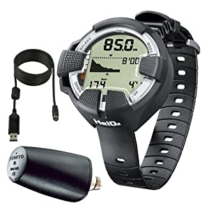 Buy Suunto HelO2 Hoseless Dive Computer with LED Transmitter & USB PC Download Kit (CLOSEOUT) by Suunto