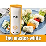 BYB® - Latest Generation Creative Vertical Cooking Egg Master Egg Maker Boiled Egg Cup/Multifunctional Egg Boiler - White