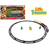 Little Treasures High Quality Electric Train Set Choo Choo The Steam Engine Cargo Train Is Rumbling Down Its Track...