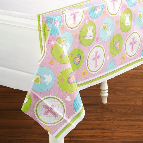 Amscan - Sweet Blessing Pink Tablecover