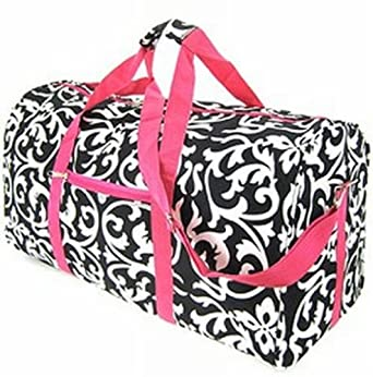 Damask Hot Pink Duffel Bag 21""