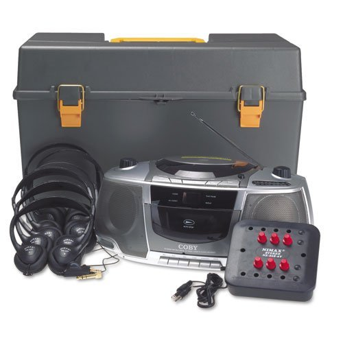 AmpliVox Products - AmpliVox - Personal Six-Station Listening Center, Gray - Sold As 1 Each - Stereo six-station jack box with volume control for each station includes six personal sized headphones with volume control and screw-on 1/4