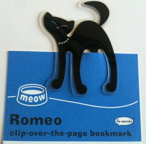 Romeo Black Cat Clip over the page Bookmark By Re marks