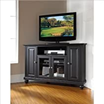 Big Sale Crosley Furniture Cambridge 48-Inch Corner TV Stand, Black