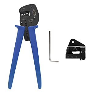Signstek MC4 Solar Crimping Tools for 2.5/4/6.0mm? Solar Panel Cable (Color: Blue)