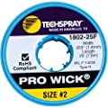 "Techspray 1802-25F Pro Wick Rosin Desoldering Braid, .055"", 25ft."