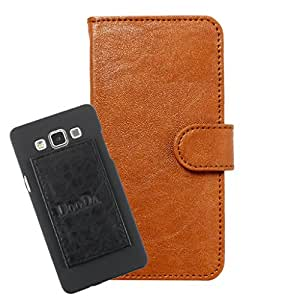 DooDa PU Leather Wallet Flip Case Cover With Card & ID Slots For Oppo A53 - Back Cover Not Included Peel And Paste