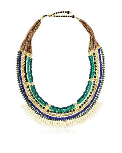 Sparkling Sage Multi Layer Beaded Bib Necklace