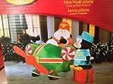 Gemmy Airblown Inflatable Pilot Santa Christmas Airplane Penguin Present Airport