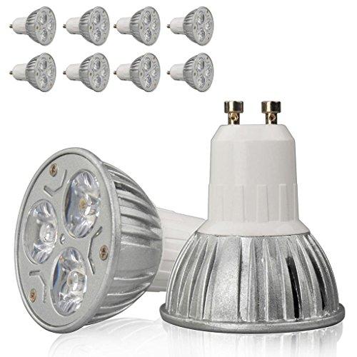 8X High Power 9W 3X3W Gu10 Warm White Led Smd Bright Spot Light Bulb Lamp Globe