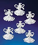 The Beadery Holiday Beaded Ornament Kit Crystal Angels 2 Makes 6