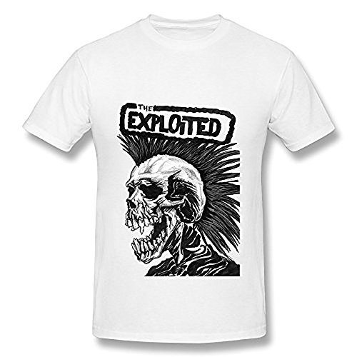 Men's Beat The Bastards The Exploited T Shirt White