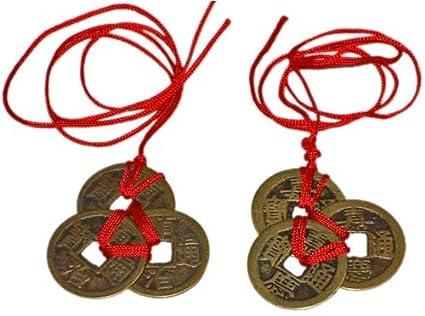 Monedas Feng Shui de riqueza y éxito