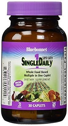 buy Bluebonnet Super Earth Single Daily Multi-Nutrient Formula Iron Free Caplets, 30 Count