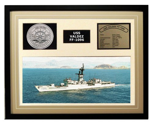Navy Emporium USS Valdez FF 1096 Framed Navy Ship Display торшер leds c4 emporium 25 1858 i1 55