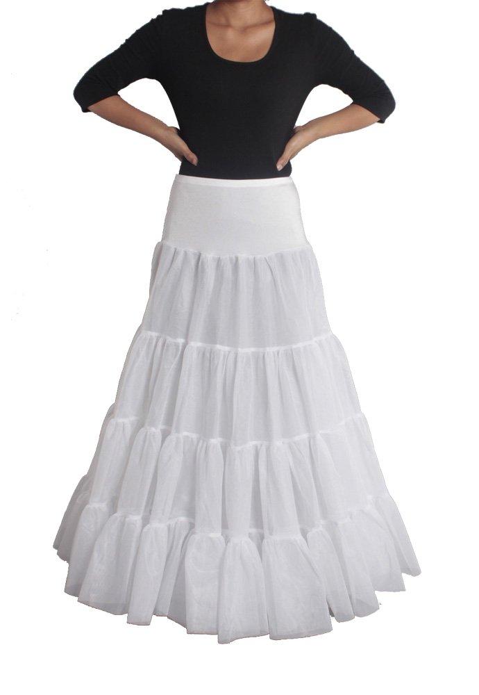 XYX Frauen-Hochzeits PetticoatUnderskirt Schlupf Krinoline WEISS XS-M günstig