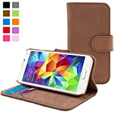 Snugg™ Galaxy S5 Case - Leather Wallet Case with Lifetime Guarantee (Black) for Galaxy S5
