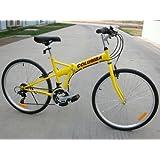 "Columba 26"" Folding Bike w. Shimano 18 Speed Yellow (SP26S_YLW)"