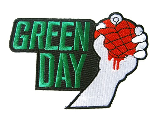 Green Day American Punk Rock Music Band Logo Applique Embroidered Iron on Patch