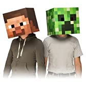 "Official Minecraft 12"" Steve & Creeper Exclusive Head Costume Mask Set of 2 おもちゃ【並行輸入品】"
