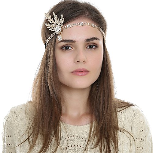 FAYBOX-1920s-Flapper-Gatsby-Sparkling-Leaf-Vintage-Headband-Medallion-Pearl-Hairpiece