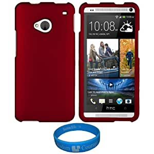 Dwluxmo Red Durable 2 Piece Snap-On Crystal Hard Case Faceplate Cover