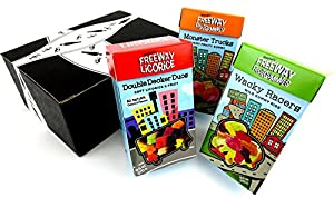 Gustaf's Gluten Free Freeway Fruit & Licorice Candies 3-Flavor Variety: One 9.5 oz Package Each of Monster Trucks, Double Decker Duos, and Wacky Racers in a Gift Box
