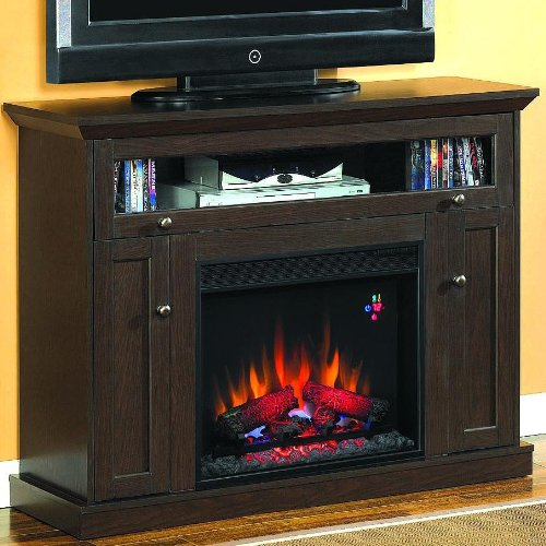 Windsor 46-inch Electric Fireplace Media Console - Oak Espresso - 23de9047 photo B005T093MW.jpg