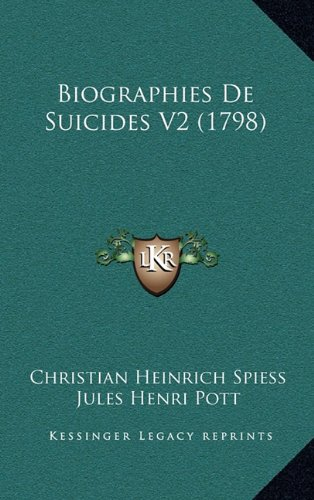 Biographies de Suicides V2 (1798)