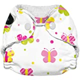 Imagine Baby Products Newborn Stay Dry All-In-One Snap Cloth Diaper, Flutter