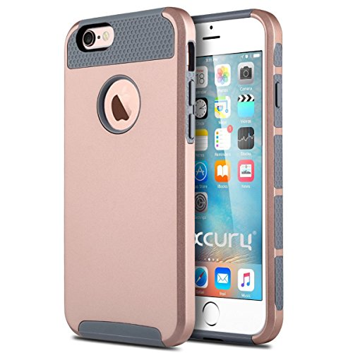 iPhone 6 Plus Case (5.5 inch),Keetech[Slim Hybrid Dual Layer] Heavy Duty Case Cover for Apple iPhone 6 Plus and iPhone 6s Plus 5.5 inch (Rose Gold-Gray)