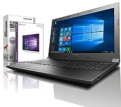 Lenovo (15,6 Zoll) Notebook (Intel Celeron N3060 2x2.48 GHz, 4GB RAM, 750GB S-ATA HDD, Intel HD Graphic, HDMI, Webcam, Bluetooth, USB 3.0, WLAN, Windows 10 Professional 64 Bit) #5159